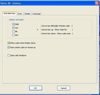 3d desktop configuration