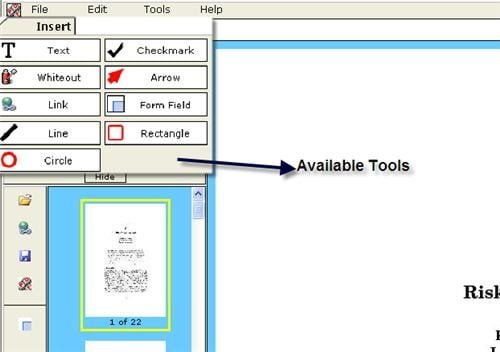 working with online PDF Reader / Editor / Form Filler / Form Creator Free PDFescape