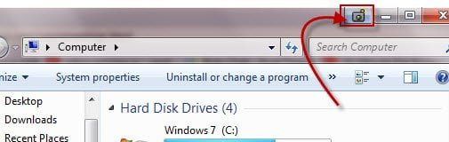 Add a button on Windows Title bar to take screenshots snapshots