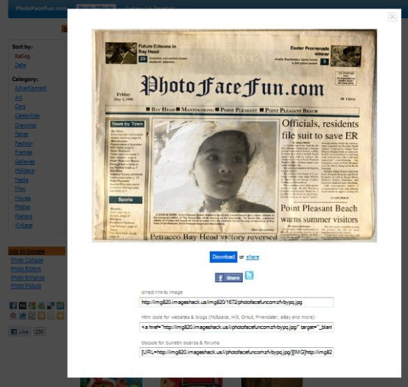 Add your photos to Newspapers, Movie Posters, Pose with celebrities