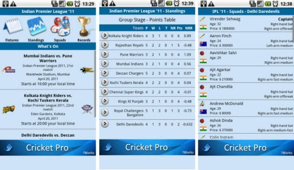 All round Cricket updates with Free Android application