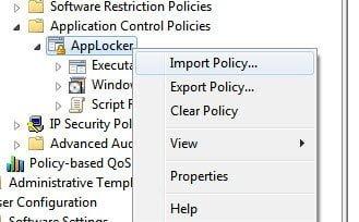 AppLocker Export Rules