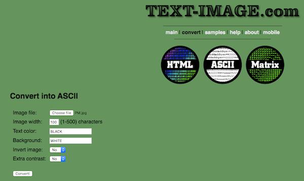 Ascii Creator Online Tool