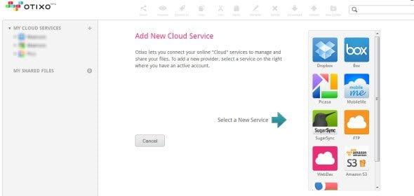 Authorize Otixo to access your Cloud Storage Services