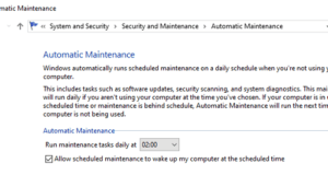 How to perform Automatic Maintenance in Windows 10