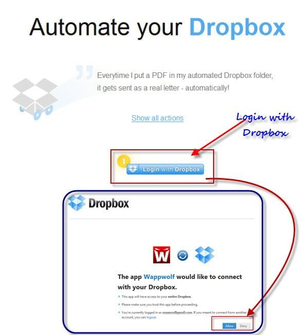 Automatically Process files dropped in a Dropbox Folder