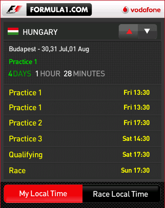 Formula1 Race Tracker