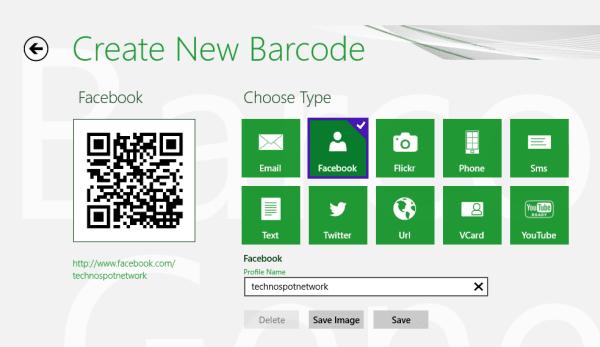 Barcode Generator App for Windows 8