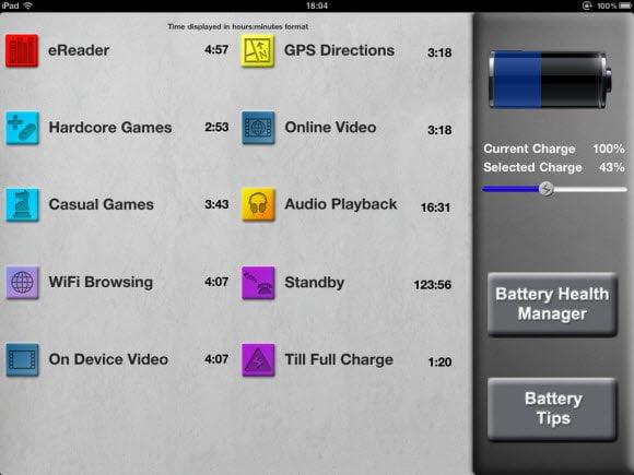 Battery Go Plus Usage Estimater