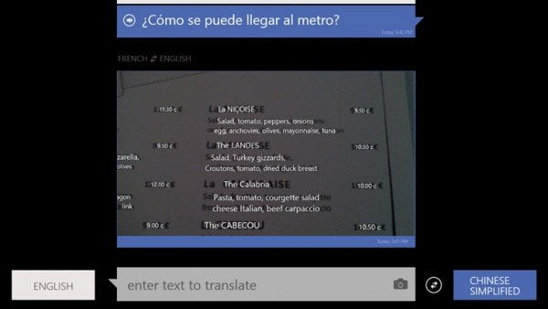 Bing Translator for Windows 8