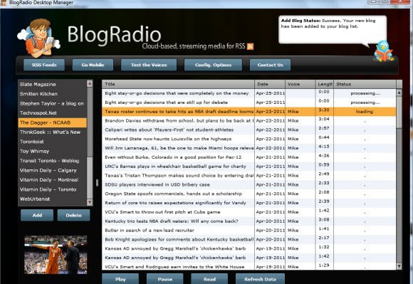 Blog Radio RSS to Podcast