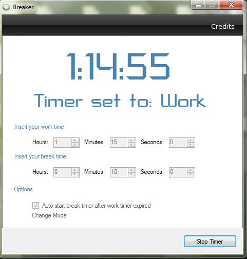 Manage Break Times