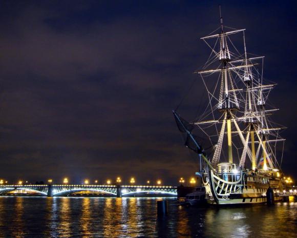 Bridge and Ship Wallpaper