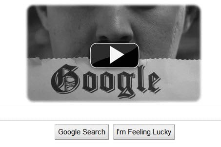 Charlie Chaplins Google Doodle