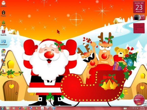 Christmas Santa Windows Theme