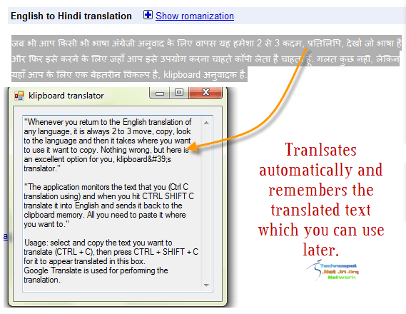 Clipboard with Translation Power