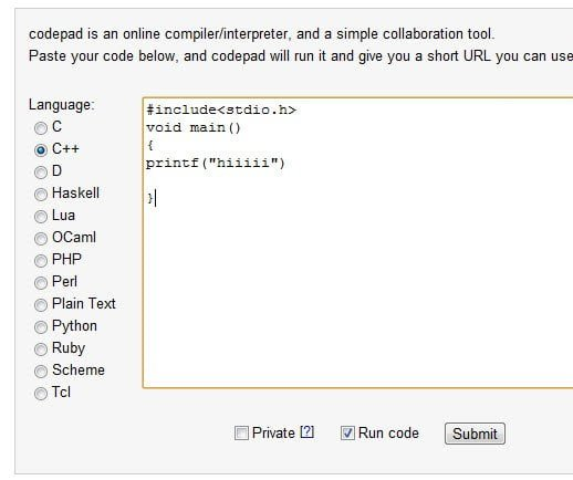 CodePad Compiler