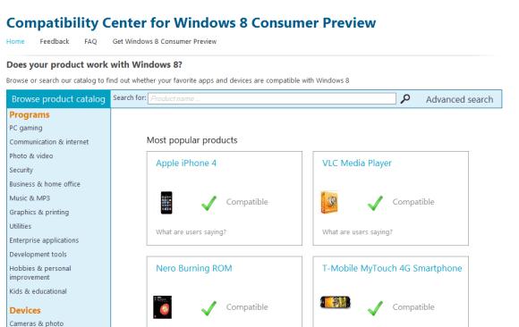 Compatibility Center for Windows 8 CP