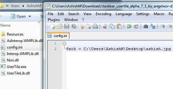 Configuration File for User Tile