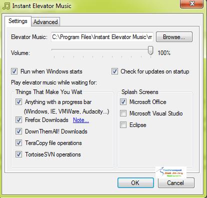Configure Elevator Music