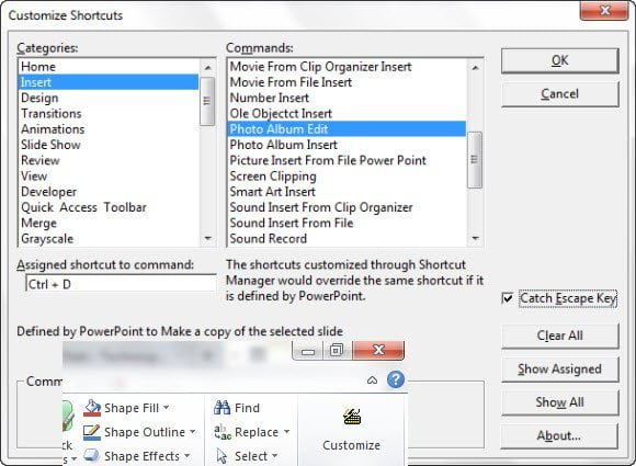 Customize PowerPoint Shortcuts
