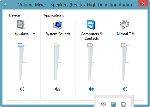 Default Sound Control of Windows