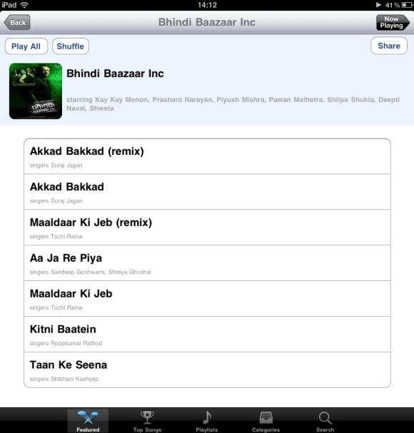 Dhingana Player for iPad