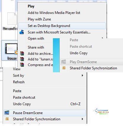 Dream Scene in Windows 7