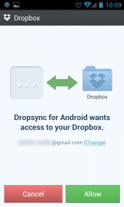 Dropsync Dropbox Linking Auto