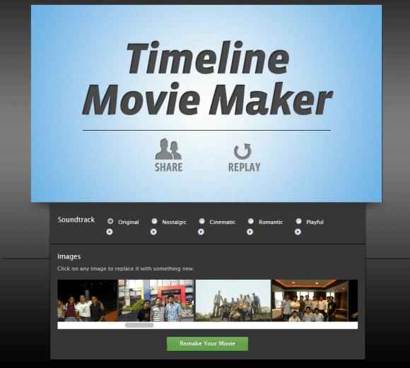 Editing Facebook Timeline Movie