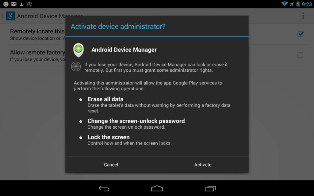 Erase Data Device Manager Option