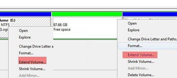 increase Partition space