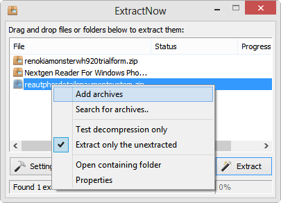 Extract Now for Windows