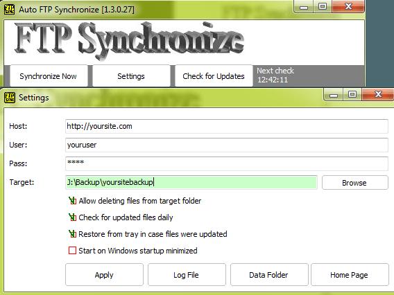 FTP Synchronize