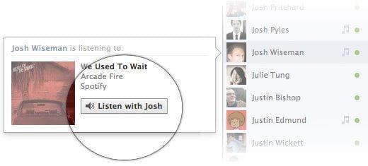 Facebook Listen to Music