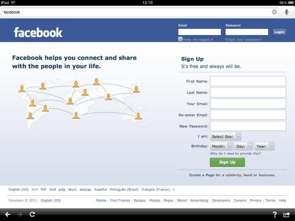 Facebook in Google Apps