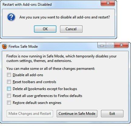 Safe Mode Firefox Refresh