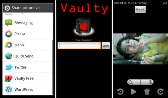 Free Android app to Hide pictures and videos from your gallery