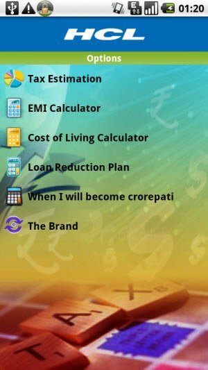Free Android app to calculate tax India