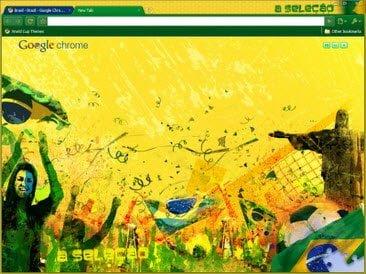 Free Download Brazil theme for Google Chrome