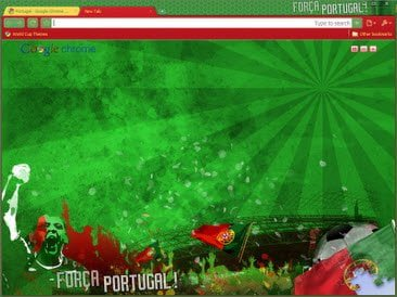 Free Download Portugal theme for Google Chrome