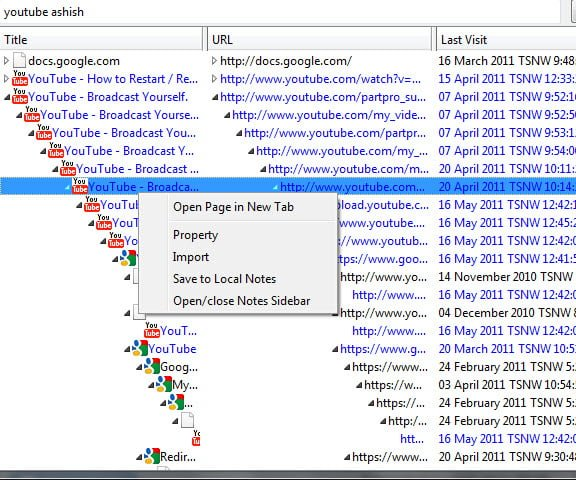 Browsing History of Firefox