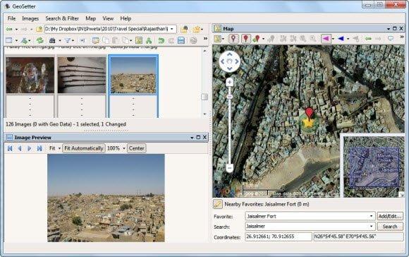 GeoSetter Location Data