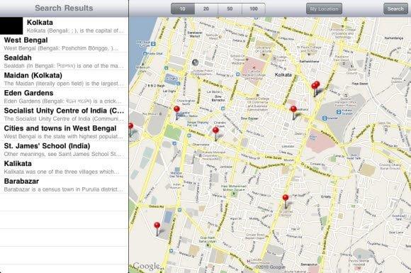 Geopedia app for iPad