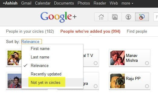 Google Plus Not yet in Circles