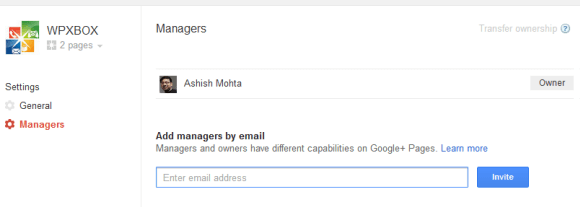 Google Plus Managers