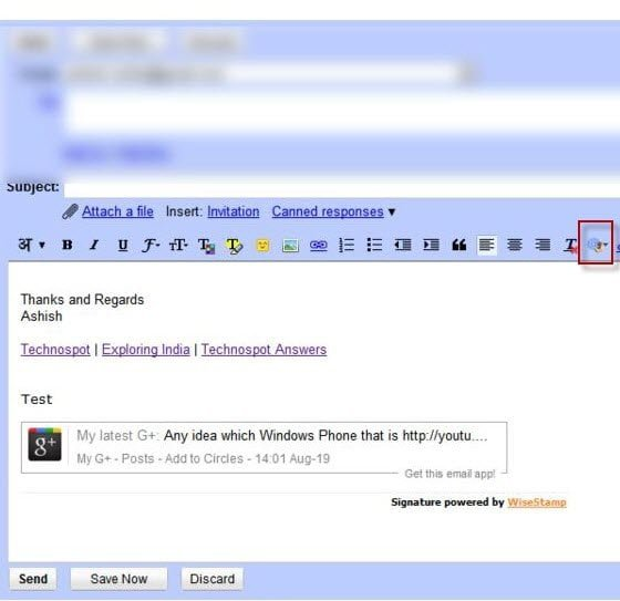 Google Plus Update in Email