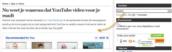 Google Translate beside articles