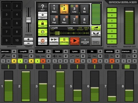 GrooveMaker Free iPad app to create awesome remix