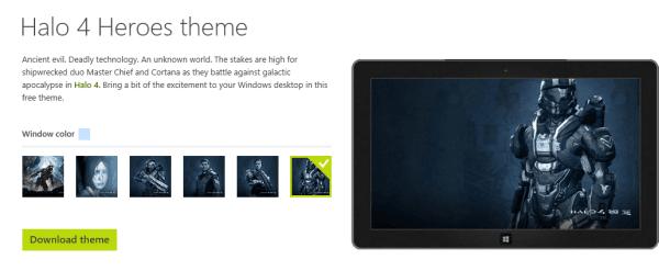 Windows 8 / RT New Themes : Halo 4 Heroes, GTGraphics 2